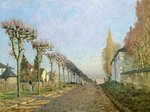 Rue de la Machine, Louveciennes, 1873 (oil on canvas) Postcards, Greetings Cards, Art Prints, Canvas, Framed Pictures & Wall Art by Camille Pissarro