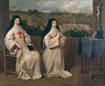 Two Nuns Fine Art Print by Rogier van der Weyden