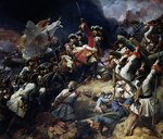 Battle of Denain, 24th July 1712, 1839 (oil on canvas) Fine Art Print by Jean Antoine Simeon Fort