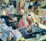 Woman Ironing, 1912 Fine Art Print by Peter Jackson
