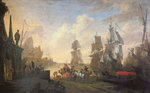 View of a Port in the Levant, 1670 (oil on canvas) Fine Art Print by Hendrik van Minderhout