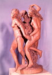The Three Graces (terracotta) Fine Art Print by Peter Paul Rubens