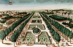 View of the Jardin des Plantes from the Cabinet d'Histoire Naturelle Fine Art Print by Peter Nicholls