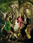 Adoration of the Shepherds, 1603-05 (oil on canvas) Wall Art & Canvas Prints by Guido Reni
