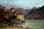 The Chateau de Chillon, 1875 (oil on canvas) Fine Art Print by Philip James de Loutherbourg