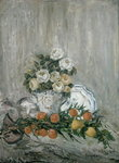 Roses and Lemons (oil on canvas) Postcards, Greetings Cards, Art Prints, Canvas, Framed Pictures, T-shirts & Wall Art by Samuel John Peploe