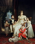 Caroline Bonaparte (1782-1839) and her Children (oil on canvas) Wall Art & Canvas Prints by Herbert Warhurst