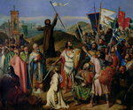 Procession of Crusaders around Jerusalem, 14th July 1099, 1841 Fine Art Print by French School