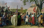 Count of Tripoli accepting the Surrender of the city of Tyre in 1124, 1840 Poster Art Print by Charles Alexandre Debacq