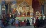 Assembly of Crusaders in Ptolemais in 1148, 1840 Fine Art Print by Merry Joseph Blondel