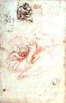 Study for the Alba Madonna, c.1508-09 (pen & ink on paper) Wall Art & Canvas Prints by Leonardo da Vinci