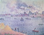 The Seine, Grenelle, 1899 (oil on canvas) Wall Art & Canvas Prints by Paul Signac