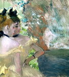 Dancers in the Wings (pastel on paper) Wall Art & Canvas Prints by Edgar Degas