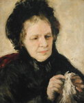 Madame Theodore Charpentier (1802-75) c.1869 (oil on canvas) Wall Art & Canvas Prints by Pierre Auguste Renoir