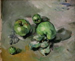 Green Apples, c.1872-73 (oil on canvas) Postcards, Greetings Cards, Art Prints, Canvas, Framed Pictures, T-shirts & Wall Art by Paul Cezanne