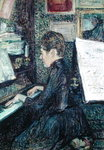 Mademoiselle Dihau (1843-1935) at the Piano, 1890 (oil on canvas) Postcards, Greetings Cards, Art Prints, Canvas, Framed Pictures & Wall Art by Vincent van Gogh
