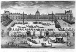 Napoleon Bonaparte (1769-1821) First Consul, Reviewing his Troops in the courtyard of the Tuileries Palace, engraved by Pierre Adrien Le Beau (b.1748) (engraving) (b/w photo) Wall Art & Canvas Prints by Thomas Hosmer Shepherd