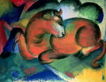 The Red Bull, 1912 (oil on canvas) Wall Art & Canvas Prints by August Macke