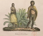 Inhabitants of Easter Island, from 'Voyage Pittoresque Autour du Monde', engraved by G. Langlume, 1822 Fine Art Print by Maximilien Radiguet