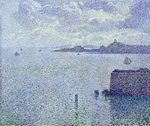 Sailing Boats in an Estuary, c.1892-93 Fine Art Print by Paul Signac