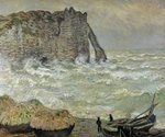 Rough Sea at Etretat, 1883 (oil on canvas) Fine Art Print by Armand de Polignac