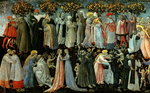 The Last Judgement, detail of the predella panel depicting Paradise, 1460-65 Fine Art Print by Fra Angelico