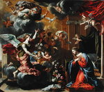 The Annunciation, 1651-52 (oil on canvas) Fine Art Print by Luca Giordano
