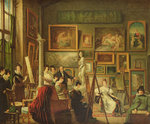The Artist's Studio, 1833 (oil on canvas) Wall Art & Canvas Prints by T. Rowlandson