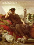 Damocles, 1866 (oil on canvas) Fine Art Print by French School