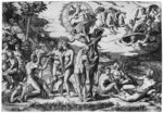 The Judgement of Paris (engraving) (b/w photo) Wall Art & Canvas Prints by Peter Paul Rubens