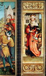 St. Elizabeth of Hungary (1207-31) right hand panel from the Triptych of St. Sebastian, 1516 (oil on panel) Wall Art & Canvas Prints by Heinrich Burkel
