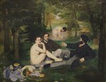 Dejeuner sur l'Herbe, 1863 (oil on canvas) (see also 65761) Wall Art & Canvas Prints by Achille Etna Michallon