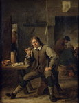 A Smoker Leaning on a Table, 1643 (oil on canvas) Fine Art Print by David the Younger Teniers