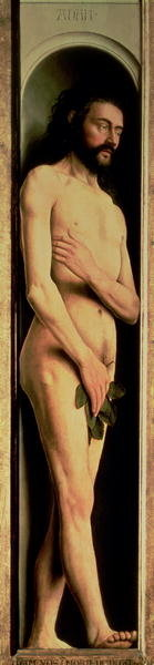 Adam, from the left wing of the Ghent Altarpiece, 1432