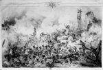 The Siege and capture of Saragossa, 1809 (litho) (b/w photo) Wall Art & Canvas Prints by Denis-Auguste-Marie Raffet
