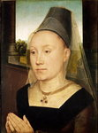 Barbara de Vlaenderberch, c.1472-75 (oil on panel) Wall Art & Canvas Prints by Rogier van der Weyden