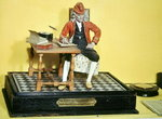 Model of Voltaire (1694-1778) in his Study, c.1773 (mixed media) Wall Art & Canvas Prints by Charles Jervas