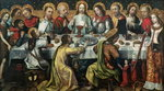 The Last Supper, 1482 (oil on panel) Postcards, Greetings Cards, Art Prints, Canvas, Framed Pictures, T-shirts & Wall Art by Jean Alexandre Joseph Falguiere