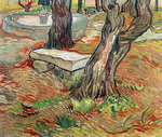 The Bench at Saint-Remy, 1889 (oil on canvas) Fine Art Print by Vincent van Gogh