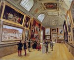 View of a Room in the Musee du Luxembourg in Paris in 1883-85 (oil on canvas) Wall Art & Canvas Prints by T. Rowlandson