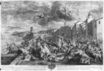 The plague of 1720 in Marseilles, engraved by Simon Thomassin (1655-1733) 1727 (engraving) (b/w photo) Wall Art & Canvas Prints by English School