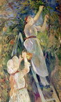The Cherry Picker (pastel on paper) Wall Art & Canvas Prints by Pierre Auguste Renoir