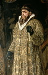 Tsar Ivan IV Vasilyevich 'the Terrible' (1530-84) 1897 (oil on canvas) (detail of 89327) Fine Art Print by Victor Mikhailovich Vasnetsov