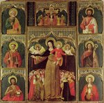 Altarpiece of the Virgin of the Rosary, c.1500 (oil on panel) Wall Art & Canvas Prints by Bartolomeo Passarotti