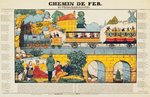 The Versailles to Paris Railway (coloured engraving) Fine Art Print by Daniel and Robert Havell