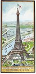 Postcard depicting the Eiffel Tower at the Exposition Universelle, 1889 Poster Art Print by French School