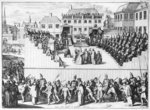 Inquisition Trial in Spain (engraving) (b/w photo) Wall Art & Canvas Prints by Alfred Mouillard