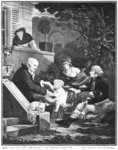 Joys of being a father, c.1797 (engraving) (b/w photo) Fine Art Print by Louis Leopold Boilly