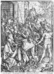 The carrying of the cross (woodcut) (b/w photo) Fine Art Print by Frans II the Younger Francken