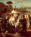 Abd Ar-Rahman, Sultan of Morocco, 1845 (oil on canvas) Postcards, Greetings Cards, Art Prints, Canvas, Framed Pictures, T-shirts & Wall Art by Ferdinand Victor Eugene Delacroix